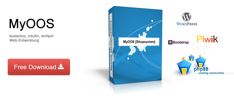 MyOOS, kostenlos, intuitive einfache Web-Entwicklung